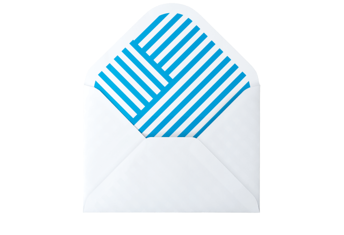 Medium Blue PatternSplash Envelopes
