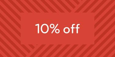 10% off Holiday!