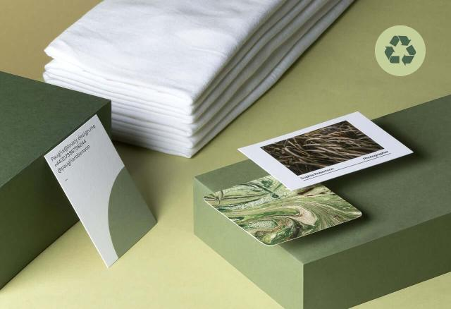 Cotton Business Cards from MOO