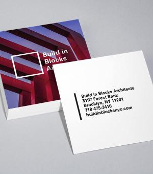 Super Angles Square Business Card design