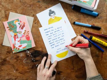 Greeting cards with a difference: Priscilla Weidlein