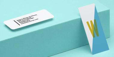 4 mini Business Cards with different designs including 1 mini card with rounded corners
