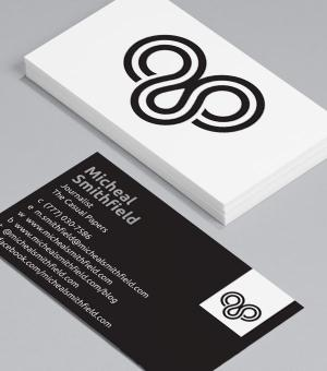 Simply logo Business Card design