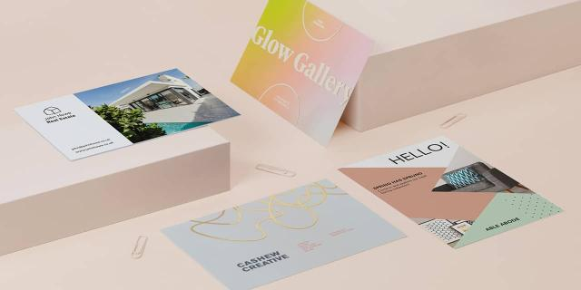 4 double-sided standard postcards with full color designs