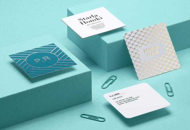 Square Business Cards from MOO