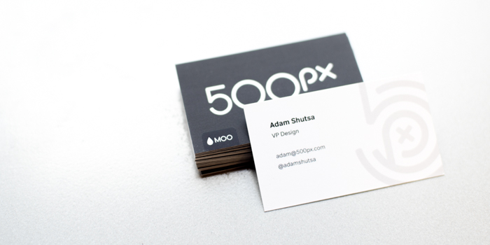 500px Super Business Cards