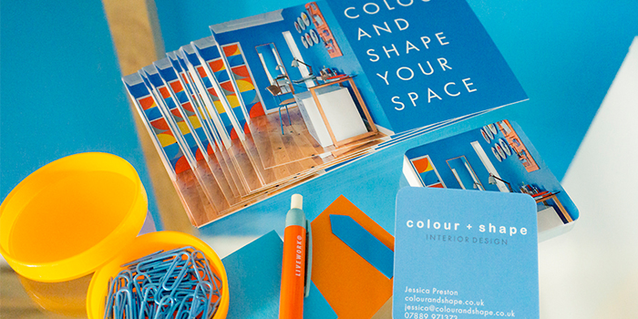 Colour + Shape postcards