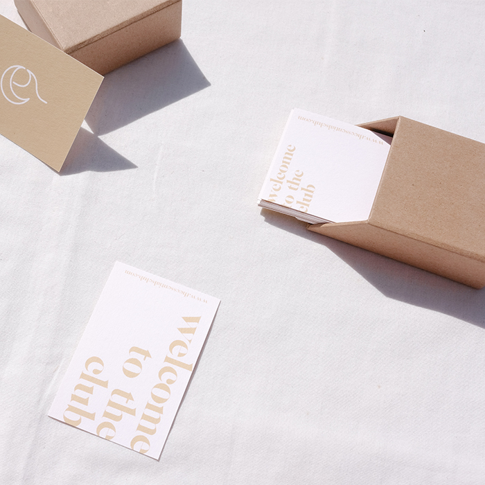The Binding luxury business cards