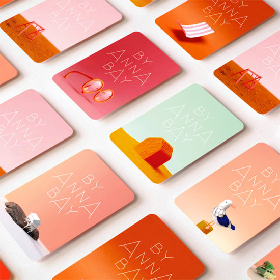Anna Bay business cards in various designs