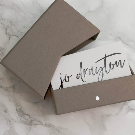 Jo Drayton business cards
