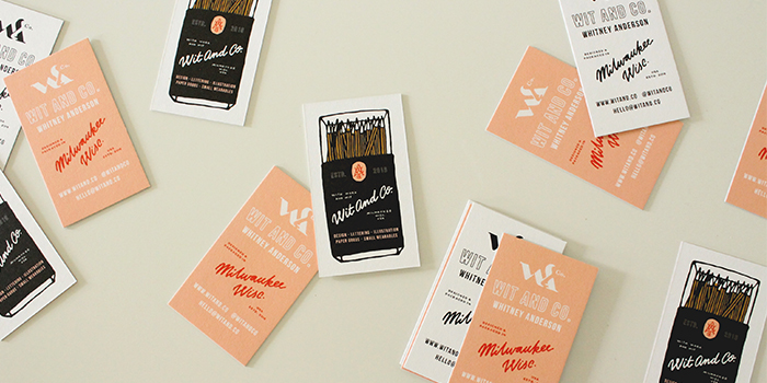 Wit and Co illustrated business cards