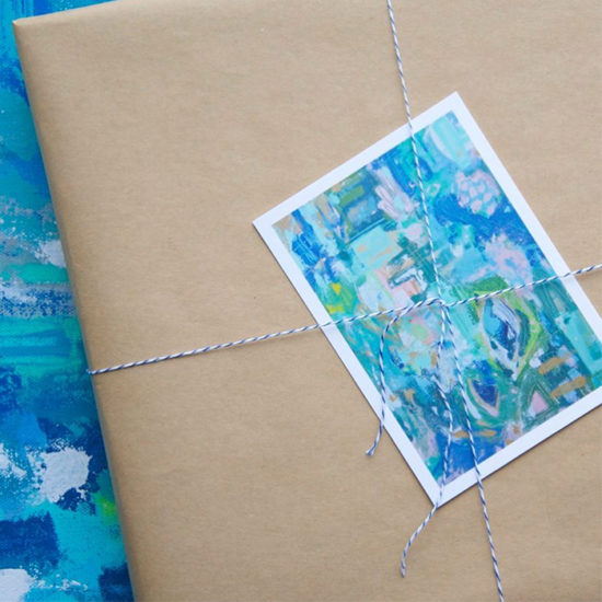Holly Young postcard in packaging
