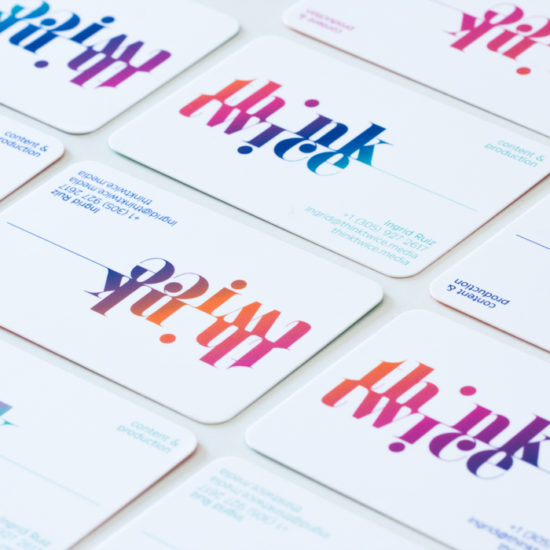 Think Twice business cards