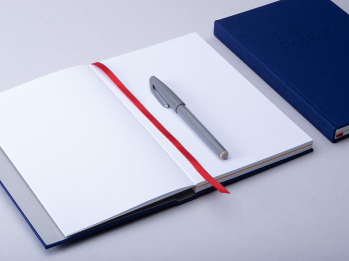 Open Redbull lined notebook