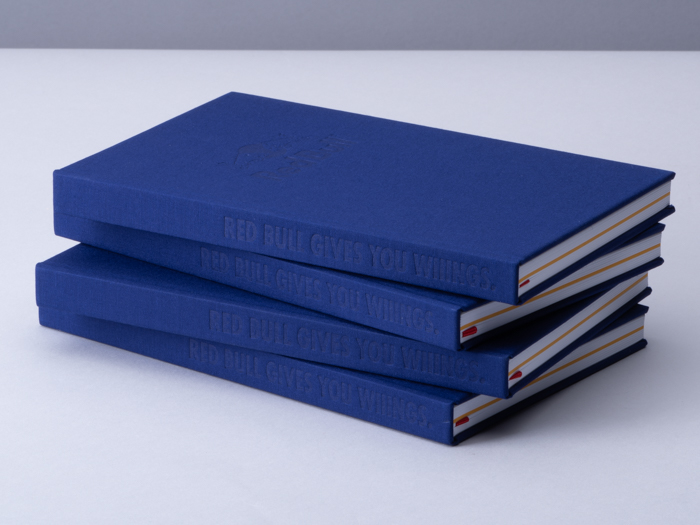 Redbull fabric hard cover notebooks