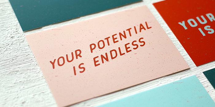 Love Bound your potential is endless card