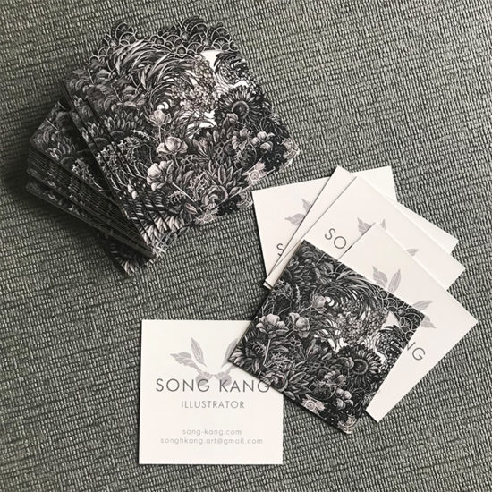 Song Kang square business cards