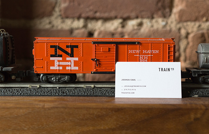 Train business card