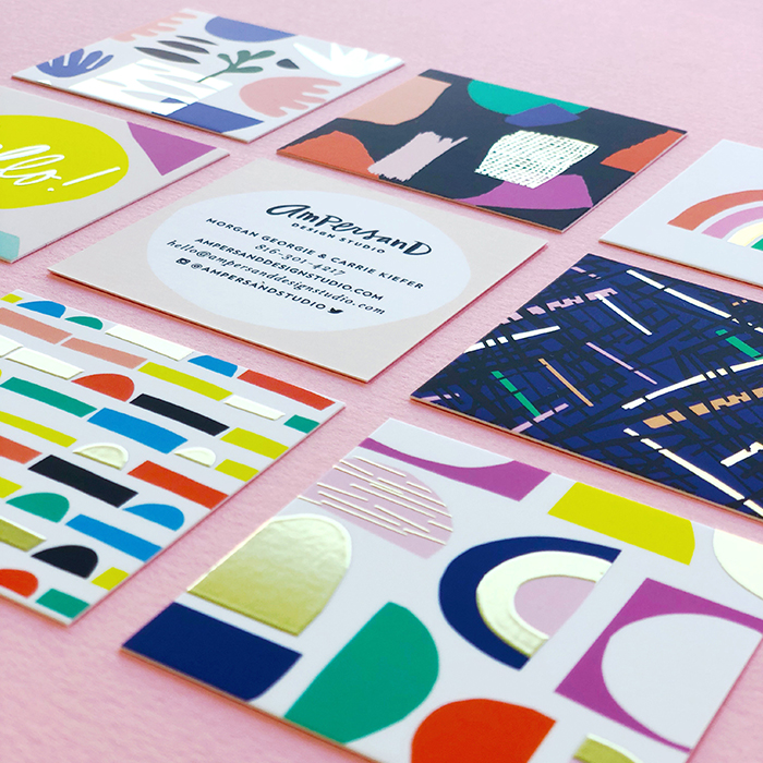 Ampersand studio business cards