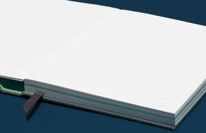 Thick lined notebook
