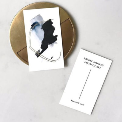 Kin Knoll minimal business card designs