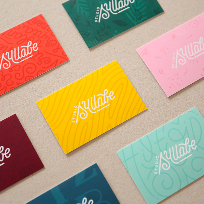 Studio Syllabe colorful business cards