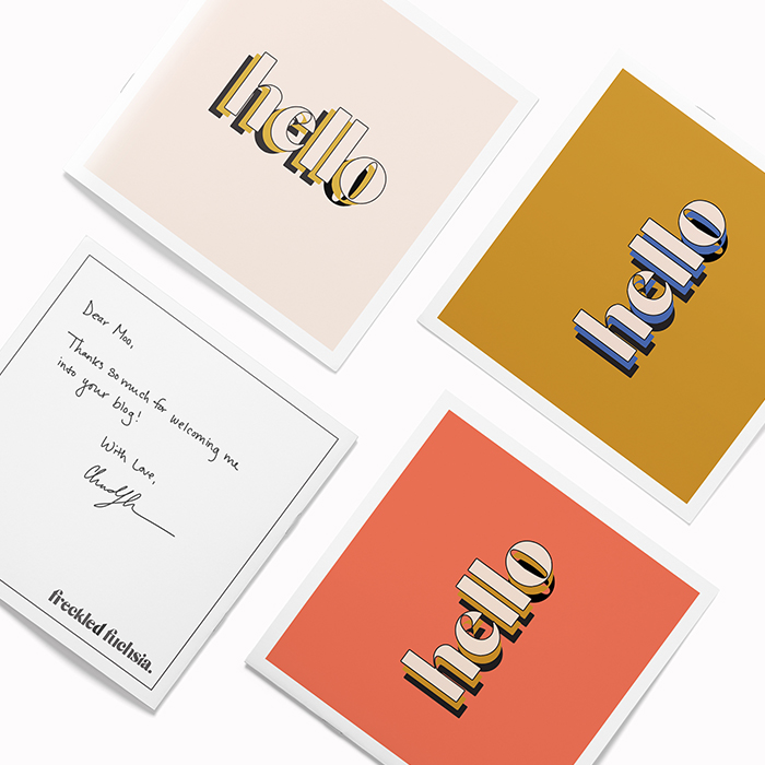 Freckled Fuchsia square business card