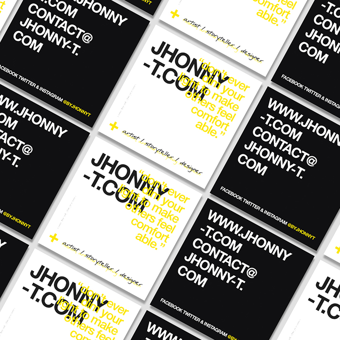 Jhonny T business cards