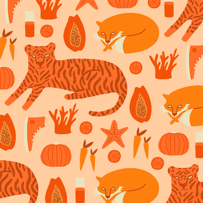 Orange pattern Melanie Johnsson