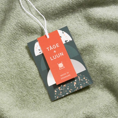 Business card used as product tag
