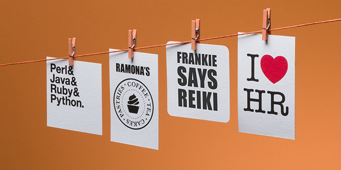 4 creative business cards with engaging messages to tell the brand story