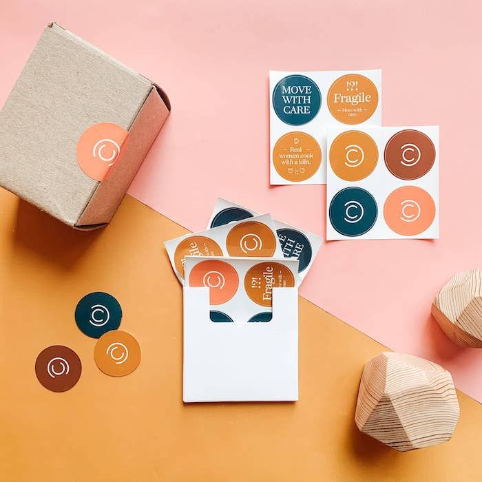 Colorful Round Stickers by Carved Colors