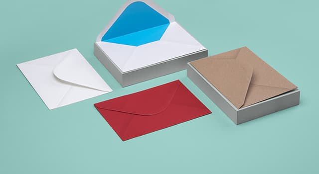 4 Envelopes including 1 standard Envelope, 2 colored Envelopes and a fancy Envelope with a splash of color on the inside