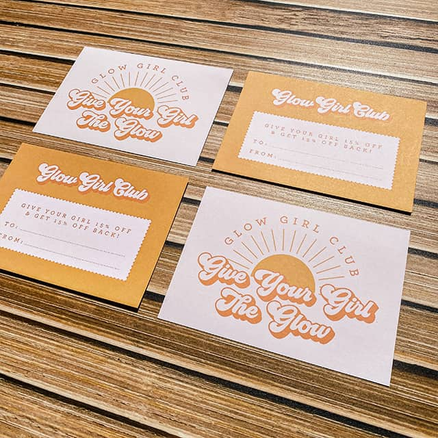 MOO referral business cards designed by Lucy's Logos