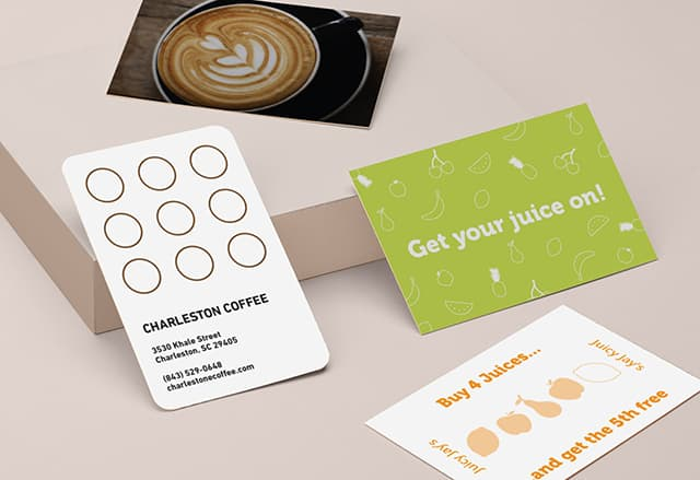 4 customer loyalty card design templates