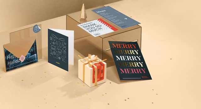 Holiday Marketing & Print Materials from MOO