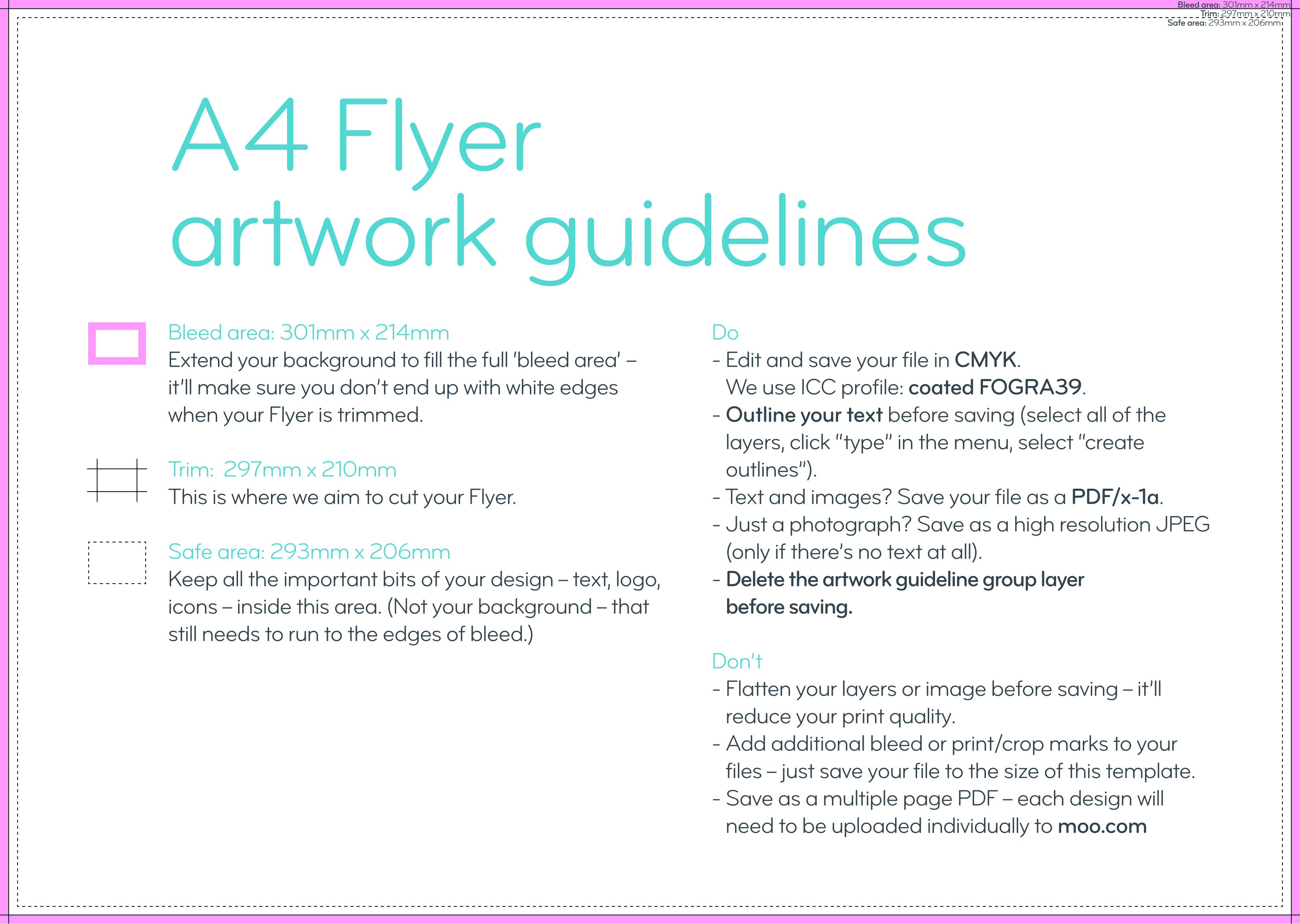 Impresión de flyers y folletos tamaño A4 | MOO ES