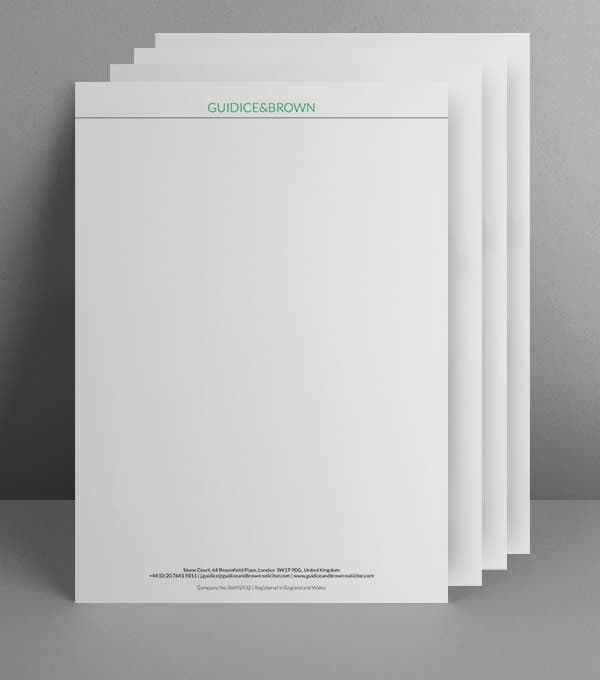 Clear Cut Letterhead Design