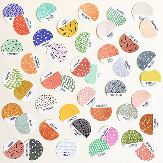 Nadia Hassan creative pattern Round Stickers printed by MOO