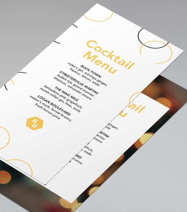 Glow Up Menu Design