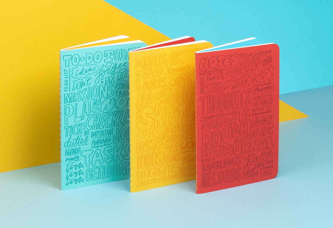 Kate Moross softcover journals