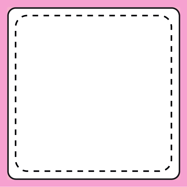 Square stickers template