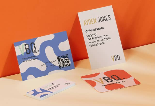 QR Code Business Cards in various sizes and designs