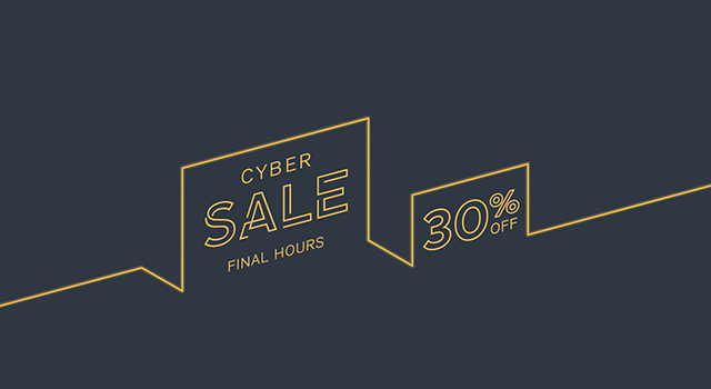 Final hours of the MOO Cyber Sale with 30% off print products and accessories