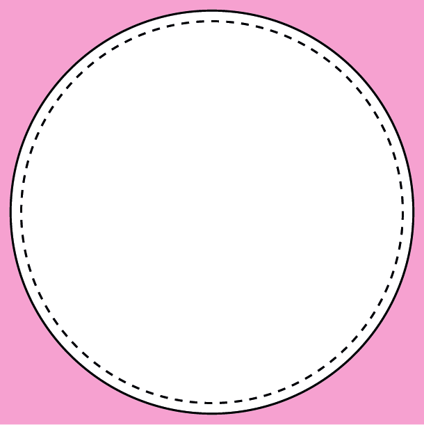 Round stickers template