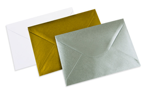 Envelopes in different colours