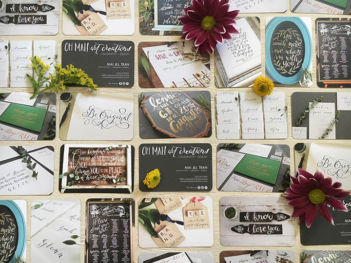 Crafty calligraphy meets beautiful business cards