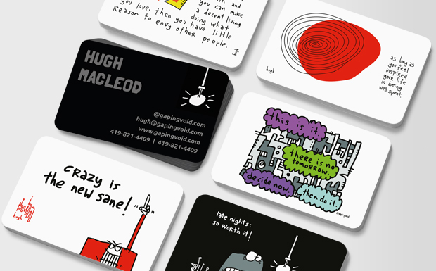 | Say hello to our friends at gapingvoid | moo.com USA