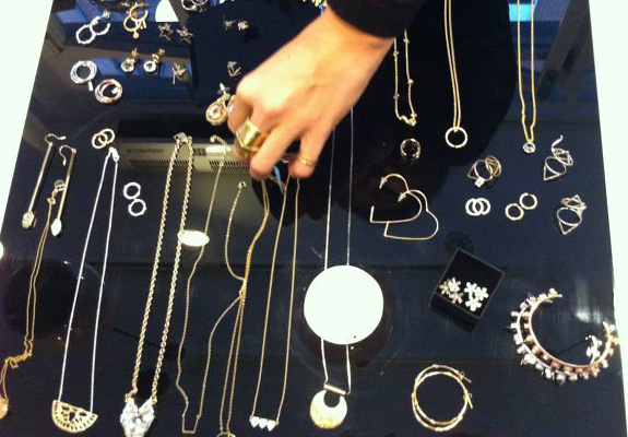 Otiumberg's jewellery at their pop-up event