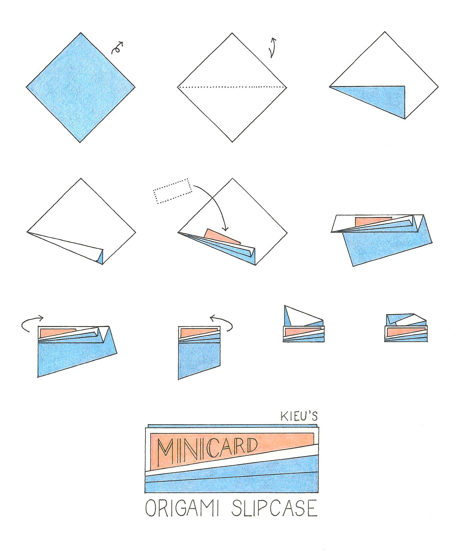 Origami MiniCard Holder How-To